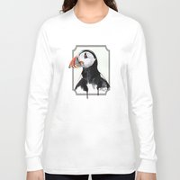 puffin Long Sleeve T-shirts featuring Puffin by Paint the Moment