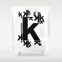 kafka Shower Curtains featuring KAFKAESQUE by THE USUAL DESIGNERS