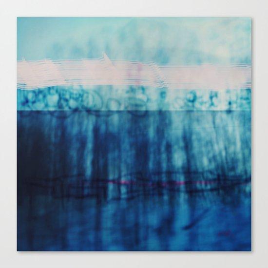Abstract ~ Blue Landscape Canvas Print