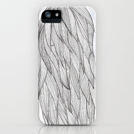 Long haired girl iPhone Case