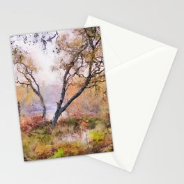Scottish forest watercolor painting #9 Stationery Cards