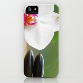 Relax with orchid flower and hot stones iPhone Case