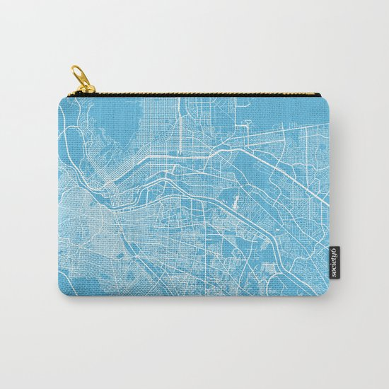 El Paso map blue Carry-All Pouch