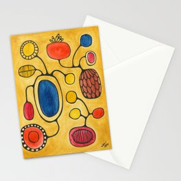 Orbs N Lines - Bird Pond Flowers Stationery Cards