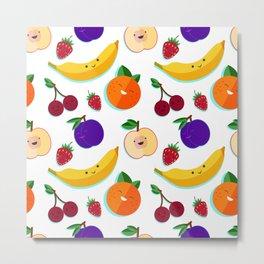 happy fruits and berries Metal Print