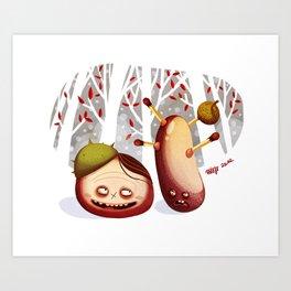 Chestnuts Art Print