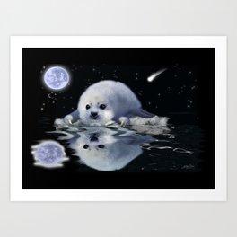Destiny - Harp Seal Pup & Ice Floe Art Print