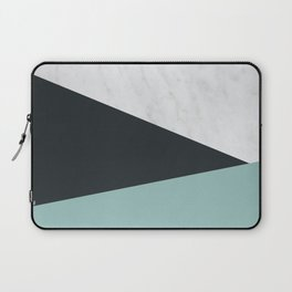 Marble, dark navy and turquoise Laptop Sleeve