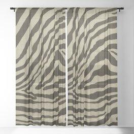 Retro zebra stain pattern Sheer Curtain