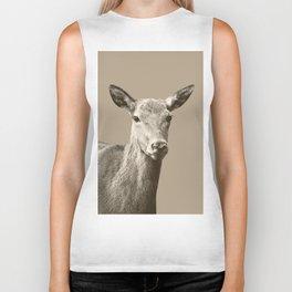 Deer on Sepia #1 #decor #art #society6 Biker Tank