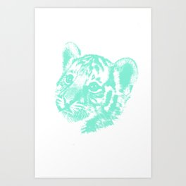 B-b-baby Tiger Art Print