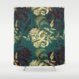 Illustrations of Florals Shower Curtain