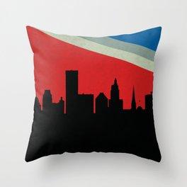 Providence Skyline Throw Pillow