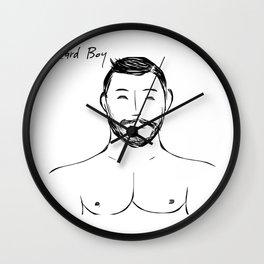 Beard Boy Classic 12 Wall Clock