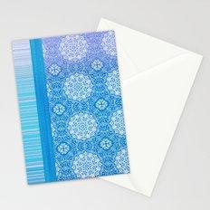 Lacey Mandalas Denim and Blue Overdye Stationery Cards
