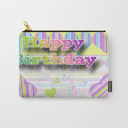Happy Birthday Collage Carry-All Pouch