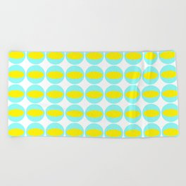 Mid-century: Watery eyes Beach Towel