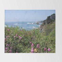 Beautiful North California Coast Throw Blanket