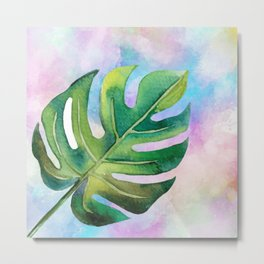 Banana Leaf in Paradise Metal Print