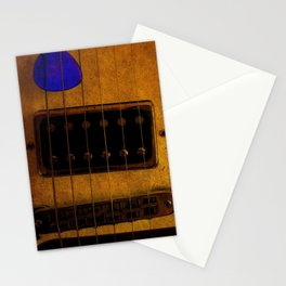Blue Plectrum Stationery Cards