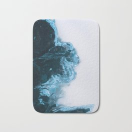Abstract Aerial Lake in Iceland – Minimalist Landscape Photography Bath Mat