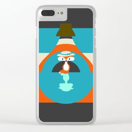 Cute fox reflection Clear iPhone Case