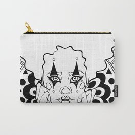 Halloween Circus Clown Ink Portrait Carry-All Pouch