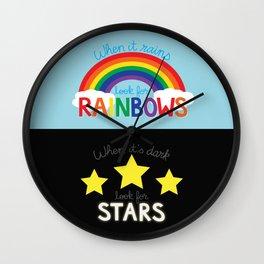 Rainbows & Stars Wall Clock