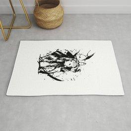 Togata Mirio Ink Splatter Rug
