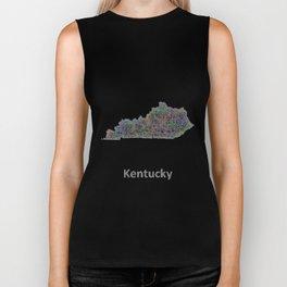 Kentucky map Biker Tank
