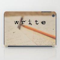 write iPad Cases featuring write by KimberosePhotography
