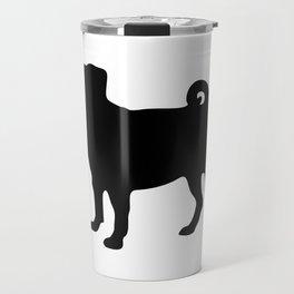 Simple Pug Silhouette Travel Mug
