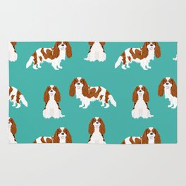 Cavalier King Charles Spaniel blenheim coat dog breed spaniels pet lover gifts Rug