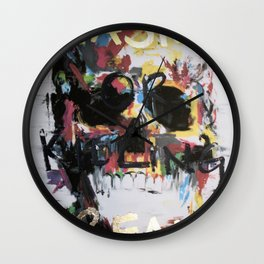 Chasing or Killing Dreams Skull Wall Clock