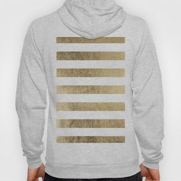 Elegant stylish trendy faux gold modern stripe Hoody