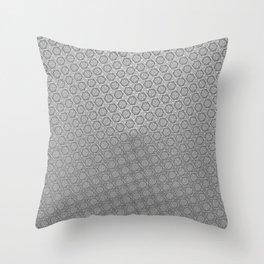 d20 Iron Weapon Critical Hit Pattern Throw Pillow