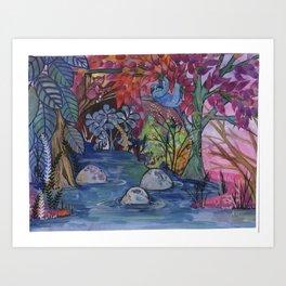 Rainforest friends Art Print