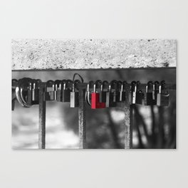 Red lock Canvas Print