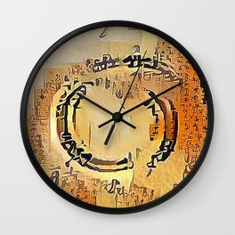 Enso Calligraphy Wall Clock