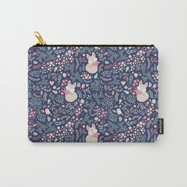 Sleeping Fox - navy Carry-All Pouch