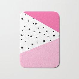 Black dots & pink leader Bath Mat