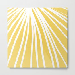 Dandelion in Yellow by Friztin Metal Print