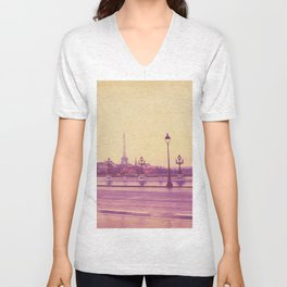 Paris, Glad to See You Again. Unisex V-Neck