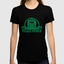 Veggie Power Vegan Muscle Gorilla - Funny Workout Quote Gift T-shirt