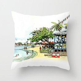 Calico Jack's, Grand Cayman (no notes) Throw Pillow