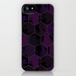 Honey Combs Texture Purple iPhone Case
