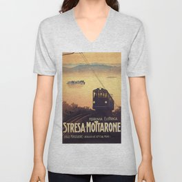 Vintage poster - Stresa-Mottarone Unisex V-Neck