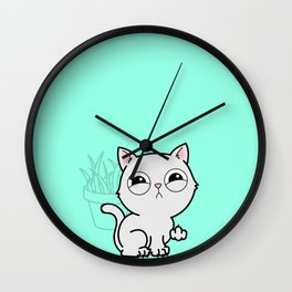 Kitty Knows Sign Language Wall Clock