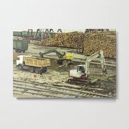 Dock Landscape II Metal Print