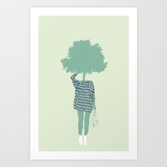 Woman Nature 6 Art Print